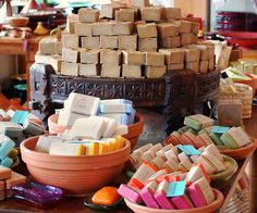 display soap in the dishes that go under terracotta pots
