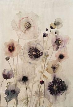 Lourdes Sanchez, Floral 2 2015, watercolor on paper