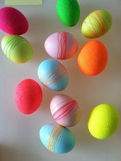 neon eggs by martha stewart