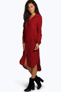 Ivone Long Line Shirt Dress