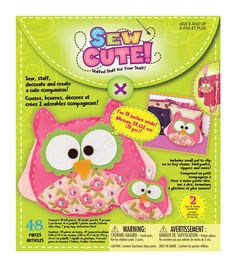 Creativity For Kids Sew Cute Craft Box Kit Makes 2Owl