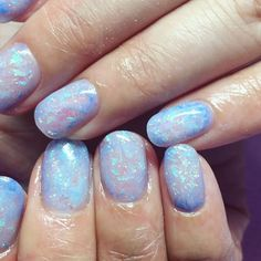"""832 Likes, 14 Comments - @clarahnails on Instagram: """"Beautiful blue Opal nails Bookings are available on www.clarahnails.com! #clarahnails…"""""""