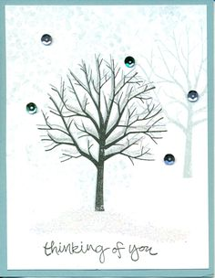 Occasions 2015: Sheltering Tree stamp set, winter. cased from Terry Brennan