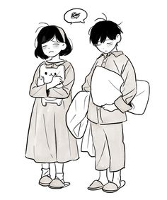 Sleepiness, it's so cute! >v< ♡♡♡ And theese two are perfect togheter.