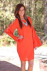 Ava Laced Dress, Orange