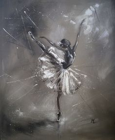 """ GIRL IN BALLET "", Oil painting by Monika Luniak 