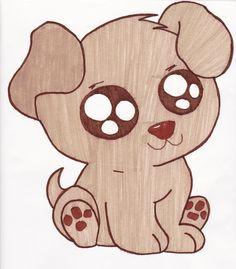 draw drawings puppy cartoon drawing dog easy cool simple animal kawaii pencil own sketch clker app fun2draw