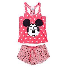 Discover our new Spring-Summer women's underwear collection: bras, panties, bikinis, swimsuits, and lingerie. Cute Pijamas, Pijamas Women, Pajama Outfits, Disney Outfits, Lazy Day Outfits, Cute Outfits, Justice Girls Clothes, Mickey Shorts, Disney Pajamas