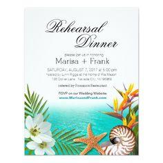 Hawaii Rehearsal Dinner Aloha Beach Rehearsal Dinner Plumeria Frangipani Card