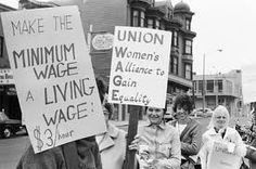 """June 4, 1912:  Massachusetts establishes a Minimum Wage Commission to """"inquire into the wages paid to the female employees in any occupation in the commonwealth, if the Commission has reason to believe that the wages paid to a substantial number of such employees are inadequate to supply the necessary cost of living and to maintain the workers in health."""""""