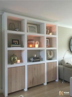 Living Room Built Ins, Modern Interior, Interior Design, Muebles Living, Boutique Deco, Piece A Vivre, Ikea, Drywall, Home Projects