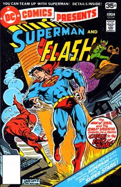 CRIVENS! COMICS & STUFF: A QUESTION OF RACE - WHO'S FASTER, SUPERMAN OR THE FLASH? CAVORTIN' COVER GALLERY...