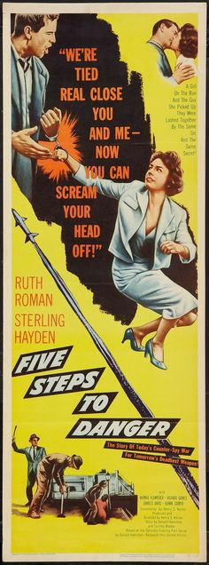 Five Steps to Danger (1956) Ruth Roman, Sterling Hayden, Werner Klemperer