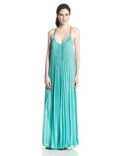 cool BCBGMAXAZRIA Women's Brynna Sleeveless Pleated Maxi Dress -V-neckline. Sleeveless. Pleated throughout. T-strap back with metal o-ring detailing. Fully lined. Floor-length hemline. -http://weddingdressesusa.com/product/bcbgmaxazria-womens-brynna-sleeveless-pleated-maxi-dress/