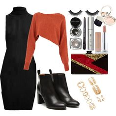 A fashion look from November 2015 featuring Rumour London dresses, Crea Concept sweaters and Stephane Kélian boots. Browse and shop related looks.