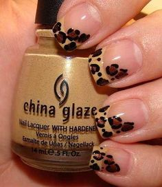 Incredibly Easy DIY Nail Art Idea: Leopard Print: Girls in the Beauty Department Get Nails, Love Nails, How To Do Nails, Pretty Nails, Leopard Print Nails, Leopard Spots, Leopard Prints, Brown Leopard, Nail Art Diy