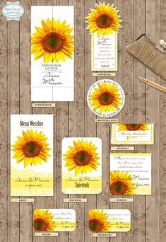 """Zaproszenia Ślubne """"Kwiaty polskie – Słonecznik """" /Przepiękne , ręcznie wykonane zaproszenia z motywem polskich kwiatów. Nowocześnie ,a zarazem klasycznie nawiązują do polskich tradycji./  /// #sylwianadolska #zaproszeniaslubne #zaproszenianaslub #zaproszenia #slub #wesele #wedding #lawenda #słonecznik #vintage #winietki #papeteria #dodatkislubne #zaproszenia http://www.sylwianadolska.com"""