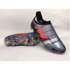 new style 96635 141cd Chaussures De Foot Adidas Glitch Skin 2017 FG - NoirArgentRouge Sortie