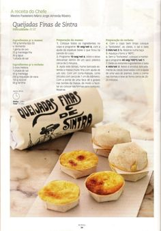 Revista bimby pt-s01-0016 - setembro 2010 Finger Food Desserts, Sweet Desserts, Sweets Recipes, Wine Recipes, Paella, Tapas, Portuguese Recipes, Portuguese Food, Cupcakes