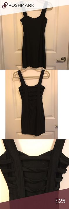 SABORA Strappy Back Dress Beautiful strappy back detail. 96% polyester. 4% spandex. Purchased in Las Vegas and only worn once to an event. Excellent condition. sabora Dresses Mini