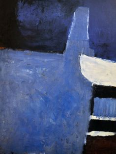 Blue - abstract - painting - Roger Hilton