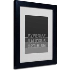 Trademark Fine Art Cautious Optimism Canvas Art by Megan Romo, Black Frame, Size: 11 x 14, Multicolor