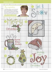 TS Last Minute Christmas Makes by Rhona Norrie 4/9 The World of Cross Stitching Issue 223