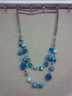 Fun dual strand necklace made with Jesse James beads.