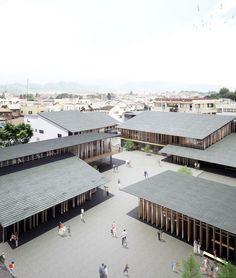 kengo kuma tomioka city hall designboom