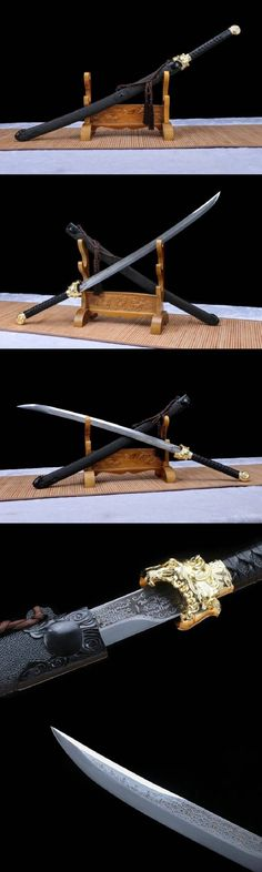 Samurai Weapons, Zombie Weapons, Ninja Weapons, Anime Weapons, Fantasy Sword, Fantasy Weapons, Swords And Daggers, Knives And Swords, Chinese Broadsword
