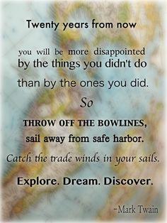 Travel quotes, Mark Twain #travelquotes