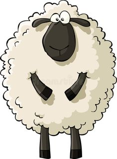 Illustration about Sheep on a white background, vector. Illustration of drawing, white, wool - 23988751 Funny Sheep, Cute Sheep, Shaun The Sheep, Sheep And Lamb, Memes Chats, Sheep Drawing, Sheep Illustration, Sheep Cartoon, Sheep Vector