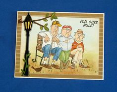 Art Impressions: Ai People: Old Guys Rule ... handmade masculine card.  Great for birthday or Father's Day