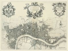 The Antiquarium - Antique Print & Map Gallery - John Strype - London Copperplate engraving