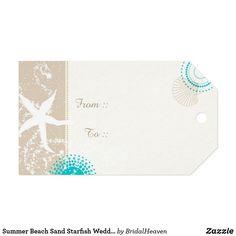 Summer Beach Sand Starfish Wedding Gift Tags