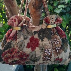 Bag borsa stoffa tappezzeria  London style  chic ricamo