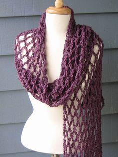PATTERN 002 Mesh Summer Scarf Crochet Tutorial por PurpleStarDust