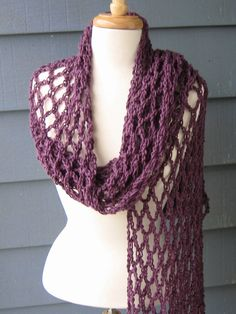 CROCHET PATTERN / DIY Project - Mesh Summer Scarf (Not the actual scarf)