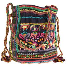 STAR MELA Kalaya Small Pouch ($99) ❤ liked on Polyvore featuring bags, handbags, accessories, purses, woven handbags, drawstring pouch, hand bags, multi colored handbags and fringe handbags