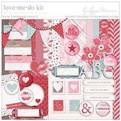 Love Me Do Kit - Digital Scrapbooking Kits DesignerDigitals