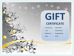 How To Create A Gift Certificate In Word 173 Custom Gift Certificate Templates For Every Occassion  Free .