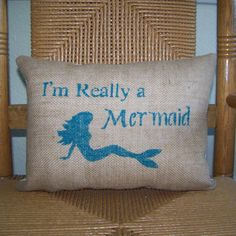 I'm Really a Mermaid pillow Mermaid pillow by KelleysCollections