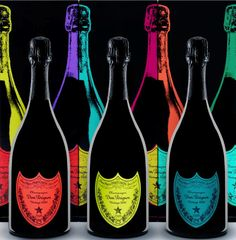 W letter like Warhol ...tribute by Dom Perignon.