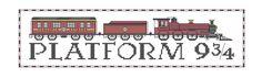 Platform 9 3/4 (Hogwarts Express) Harry Potter inspired cross stitch PDF pattern. $5.00, via Etsy.