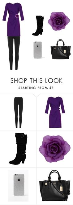 """""""date night"""" by awesome10-morgan on Polyvore featuring DKNY, Diane Von Furstenberg, Accessorize, LA: Hearts and Coach"""