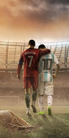 Messi and Ronaldo made many of us Love Football. World Cup 2018 Russia Cristiano Ronaldo 7, Messi Et Ronaldo, Cr7 Messi, Ronaldo Football, Messi Soccer, Football Soccer, Football Players, Ronaldo Memes, Legends Football