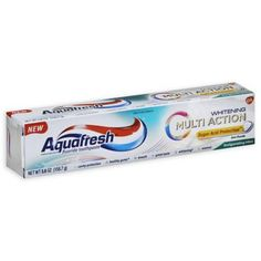Aquafresh Multi-Action Whitening Fluoride Toothpaste offers sugar acid protection which strengthens enamel. It creates a shield that helps protect the tooth surface against sugar acid attack. Toothpaste Brands, Whitening Fluoride Toothpaste, Aquafresh, Medical Help, Wedding Gift Registry, Oral Health, Cavities, Active Ingredient, Bath Towels