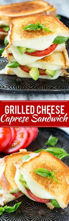Grilled Caprese Sandwich - The classic combination of tomatoes, mozzarella and…