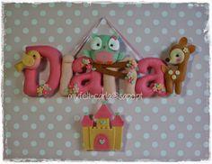 My Felt: Um nome delicado para a Diana! | Felt Name Banner