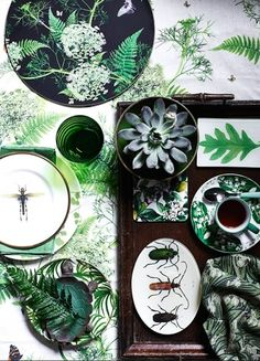 Easy ways to bring the botanical look into your home. For this and more interiors inspiration visit www.redonline.co.uk
